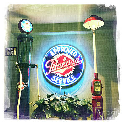 Photograph - Approved Packard Service by Nina Prommer