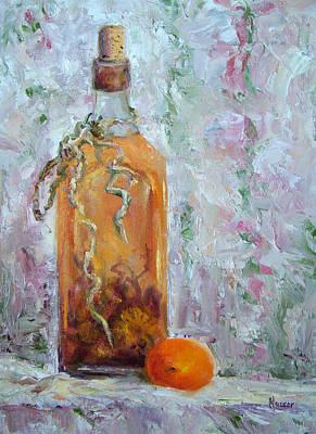 Painting - Apricot And Flavored Vinegar by Jill Musser