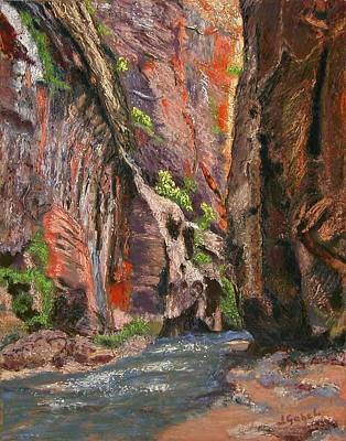 Wall Art - Pastel - Apricot Canyon 2 by Laura Gabel