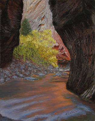 Wall Art - Pastel - Apricot Canyon by Laura Gabel