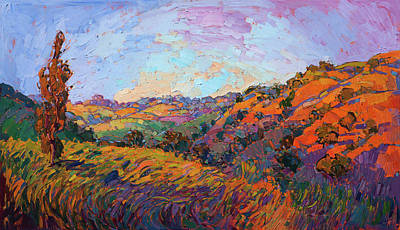 Painting - Apricot Dawn by Erin Hanson