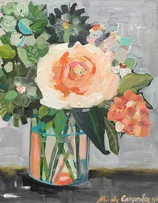 Painting - Apricot Rose by Mindy Carpenter