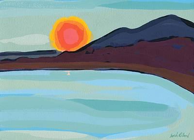 Apricot Sun Art Print