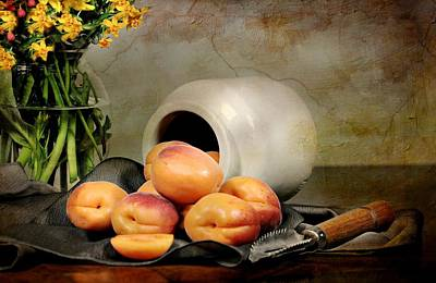 Bowl Of Flowers Photograph - Apricots by Diana Angstadt