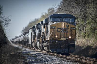 Winter Animals - April 4. 2015 - CSX empty ethanol train K457 by Jim Pearson