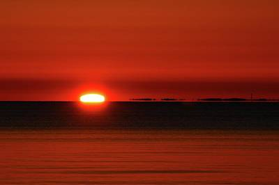 Photograph - April 8-2017 Sunrising Over Lake Simcoe  by Lyle Crump