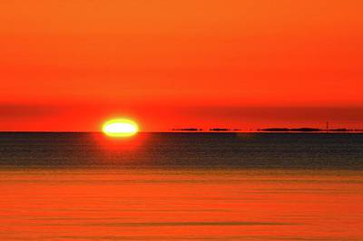 Photograph - April 8-2017 Sunrising Over Lake Simcoe Two  by Lyle Crump