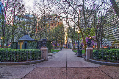 Phillies Digital Art - April At Rittenhouse Square by Bill Cannon
