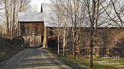 Photograph - April Back Road Barn by Alan L Graham