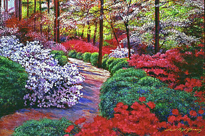 Painting -  April Beauties by David Lloyd Glover