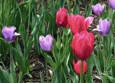 Digital Art - April Color by Kathie Chicoine