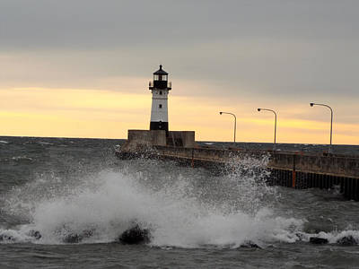 Duluth Photograph - April Gales by Alison Gimpel