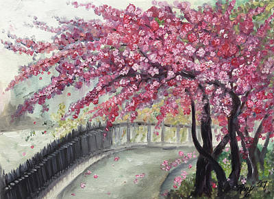 Landscape Painting - April In Paris by Roxy Rich