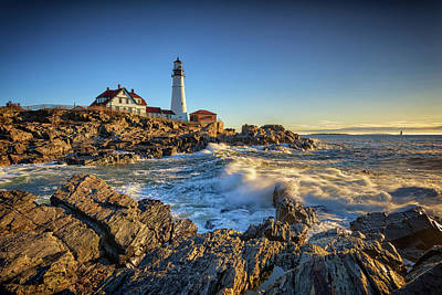 Photograph - April Morning At Portland Head by Rick Berk