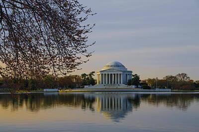 Jefferson Memorial Digital Art - April Morning In Washington Dc by Bill Cannon