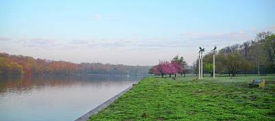 April Morning On The Scyuylkill River In Fairmount Park - Philad Art Print