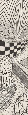 Checkered Pattern Drawing - April by N C