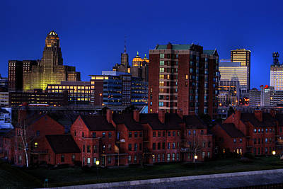 Buffalo City Hall Photograph - April Nighttime by Don Nieman