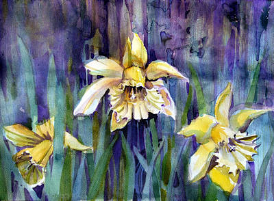 Daffodils Mixed Media - April Showers by Mindy Newman