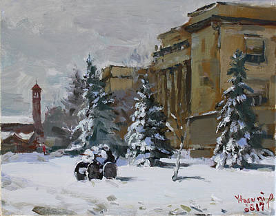 Craft Painting - April Snow By The Nacc by Ylli Haruni