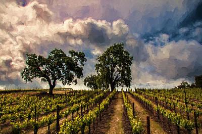 April Vines Art Print by John K Woodruff