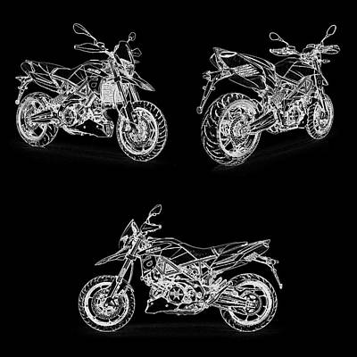 Digital Art - Aprilia Smv 900 Dorsoduro Drawing by PixBreak Art
