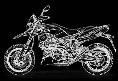 Digital Art - Aprilia Smv 900 Dorsoduro by PixBreak Art