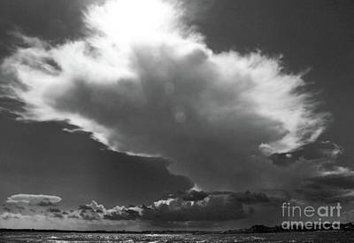 Photograph - Aproaching Storm In Bw by Mary Haber