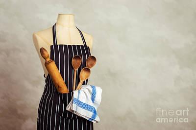 Apron Photograph - Apron And Baking Utensils by Amanda Elwell