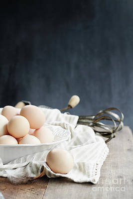 Photograph - Apron And Brown Eggs by Stephanie Frey