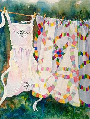 Painting - Apron In The Wind by Mary Ellen Mueller Legault