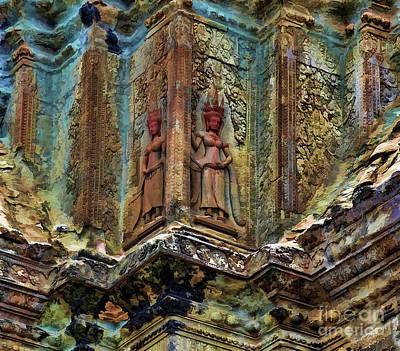 Apsara Angkor Wat Cambodia  Art Print