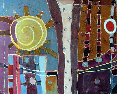 Subterranean Painting - Apticus by Lory MacDonald