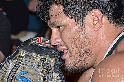 Photograph - Apw Universal Heavyweight Wrestling Champion Jeff Cobb  by Jim Fitzpatrick