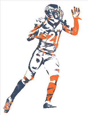 Mixed Media - Aqib Talib Denver Broncos Pixel Art 7 by Joe Hamilton