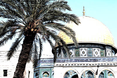 Photograph - Aqsa Palm Tree by Munir Alawi