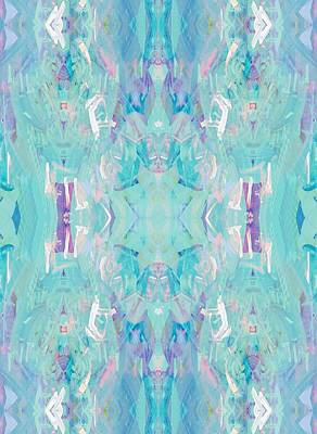 Kaleidoscopic Painting - Aqua by Beth Travers
