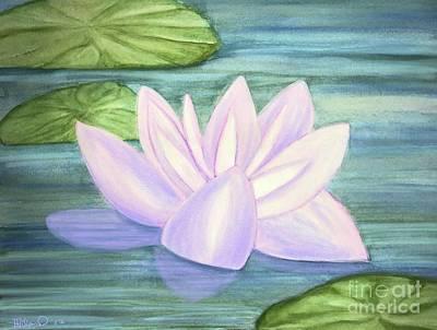 Mixed Media - Aqua Bloom by Heather Hiland