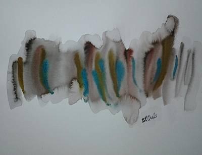 Painting -  Aqua Blue Non-objective Design by B L Qualls