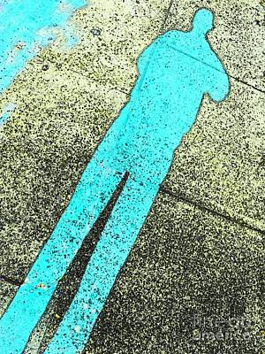 Photograph - Aqua Blue Shadow Man by Michael Hoard