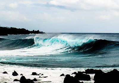 Photograph - Aqua Blue Surf Rolling In  by Joseph Amaral