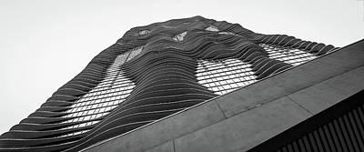 Studio Gang Photograph - Aqua Building Chicago by Mike Burgquist