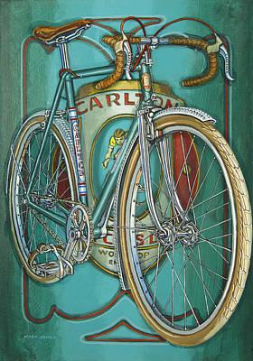 Aqua Carlton Fixed Original by Mark Howard Jones