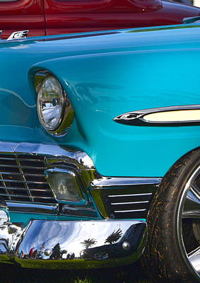 Photograph - Aqua Chevy by Dean Ferreira