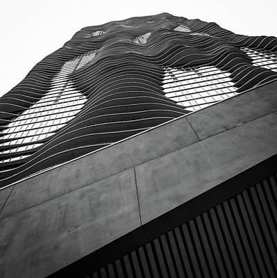 Studio Gang Photograph - Aqua Chicago Building by Mike Burgquist