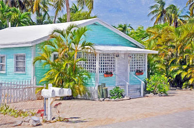 Photograph - Conch Key Aqua Cottage 2 by Ginger Wakem