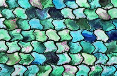 Abstract Shapes Photograph - Aqua Cynosure by Krissy Katsimbras