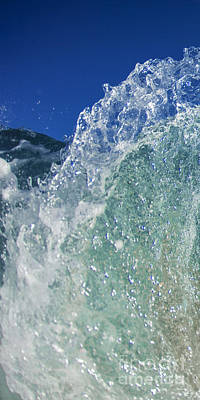 Solid Photograph - Aqua Dome - Triptych  Part 1 Of 3 by Sean Davey
