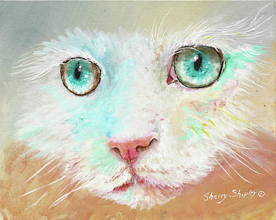 Painting - Aqua Eyes by Sherry Shipley