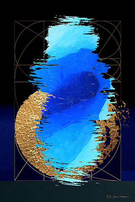 Digital Art - Aqua Gold No. 2 by Serge Averbukh